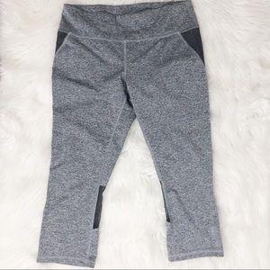 Reebok Gray Capri Leggings Size Medium